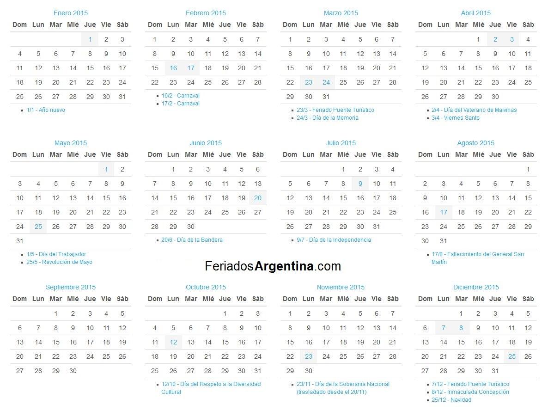 Calendario 2015 para imprimir for Calendario 2015 ministerio del interior